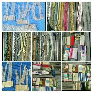 Huge lot of Lace,Bias Tape,Elastic,Sewing/crafting